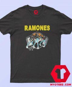 Ramones Cartoon Road To Ruin Album T Shirt