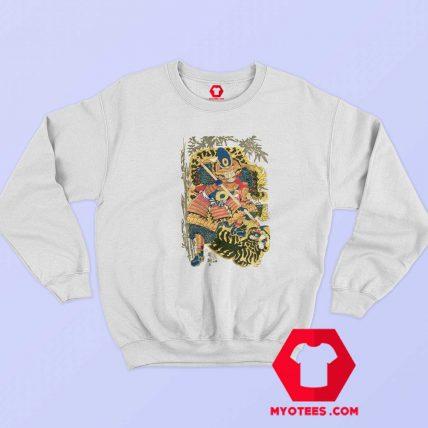 Retro Maglietta Arti Marziali Samurai Japan Sweatshirt
