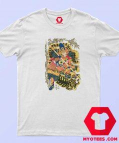 Retro Maglietta Arti Marziali Samurai Japan T Shirt