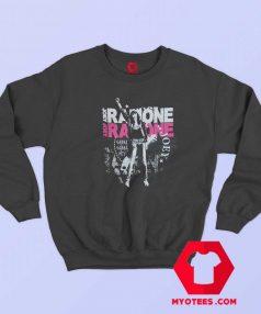 Vintage Joey Ramone Fist Black Band Sweatshirt