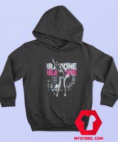 Vintage Joey Ramone Fist Black Band Unisex Hoodie