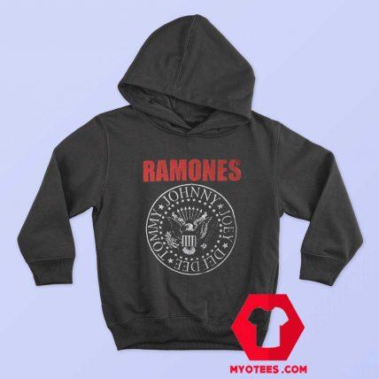 Vintage Ramones Red Logo Presidential Seal Hoodie
