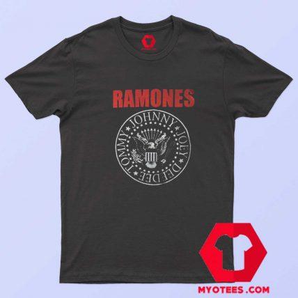 Vintage Ramones Red Logo Presidential Seal T Shirt