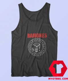 Vintage Ramones Red Logo Presidential Seal Tank Top