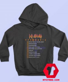 Def Leppard Pyromania Tracklist Unisex Hoodie
