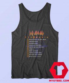 Def Leppard Pyromania Tracklist Unisex Tank Top