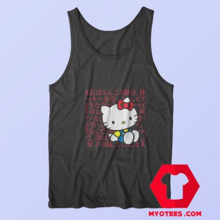 Hello Kitty Kanji Japanese Biography Unisex Tank Top
