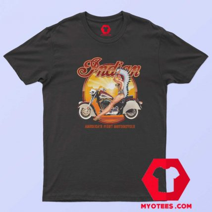 Indian America First Motorcycle Unisex T Shirt