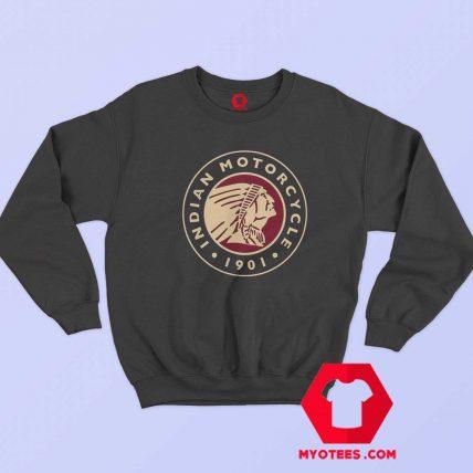 Indian Motorbike Biker Cafe Circle Logo Sweatshirt