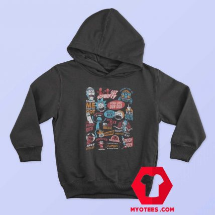 Infographic Rick And Morty Official Unisex Hoodie
