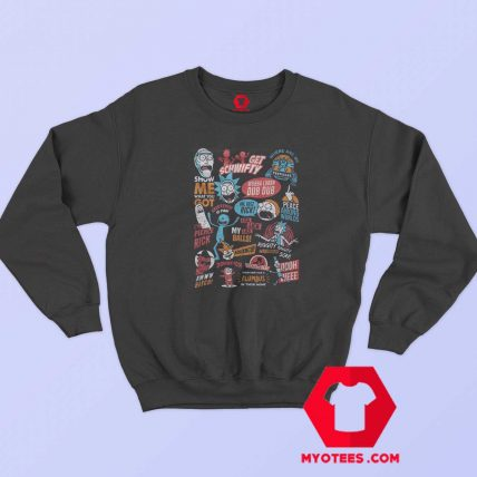 Infographic Rick And Morty Official Unisex Sweatshirt