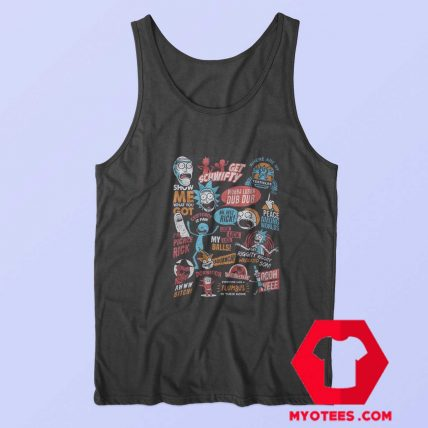 Infographic Rick And Morty Official Unisex Tank Top
