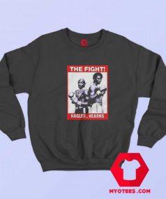 M Hagler Vs Tommy Hearns Retro Boxing Sweatshirt