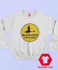 McCulloch Chain Saws Vintage Ringer Sweatshirt