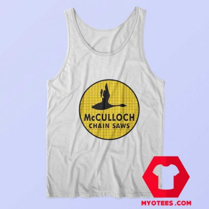 McCulloch Chain Saws Vintage Ringer Tank Top
