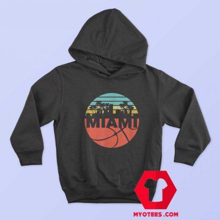 Miami Cityscape Heat Retro Basketball Hoodie