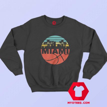 Miami Cityscape Heat Retro Basketball Sweatshirt