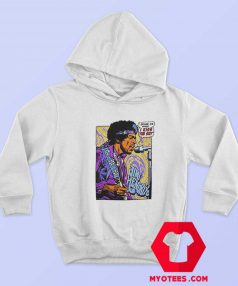 Vintage Jimi Hendrix Pop Art I Kiss The Sky Hoodie