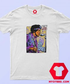 Vintage Jimi Hendrix Pop Art I Kiss The Sky T Shirt