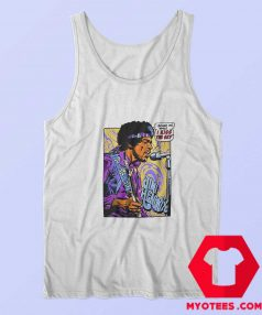 Vintage Jimi Hendrix Pop Art I Kiss The Sky Tank Top