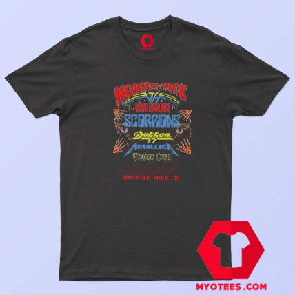 Vintage Rare 1988 Monsters of Rock Tour T Shirt