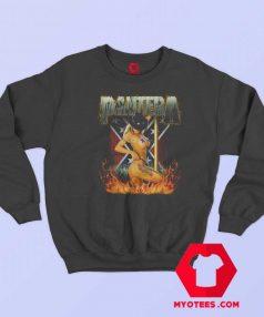 Vintage Women Hot Pantera Flaming Sweatshirt