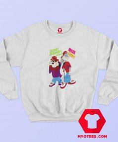Bugs Bunny and Taz Urban 90s Hip Hop Sweatshirt