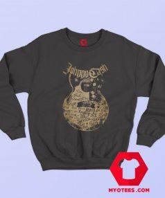 Johnny Cash Song Names On Guitar Sweatshirt