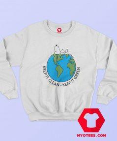 Snoopy Keep It Clean And Green Unisex Sweatshirt