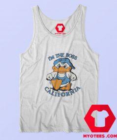 Vintage Im The Boss California Duck Unisex Tank Top
