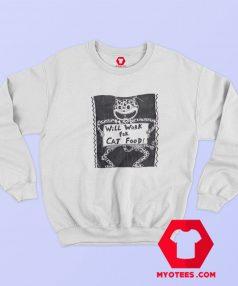 Will Work For Cat Food Vintage Unisex Sweatshirt