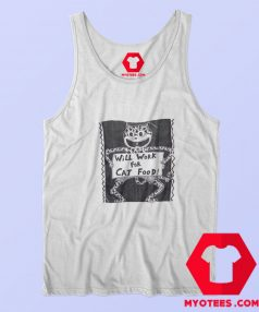 Will Work For Cat Food Vintage Unisex Tank Top