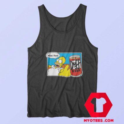 Homer Simpson Duff Beer Funny Unisex Tank Top
