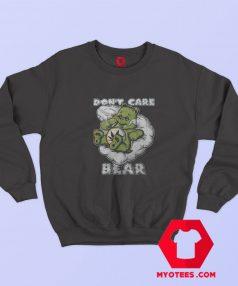 Funny Dont Care Bear Retro Parody Marijuana Sweatshirt