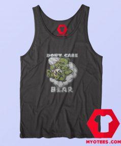 Funny Dont Care Bear Retro Parody Marijuana Tank Top