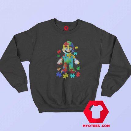 Super Mario Autism Graphic Unisex Sweatshirt